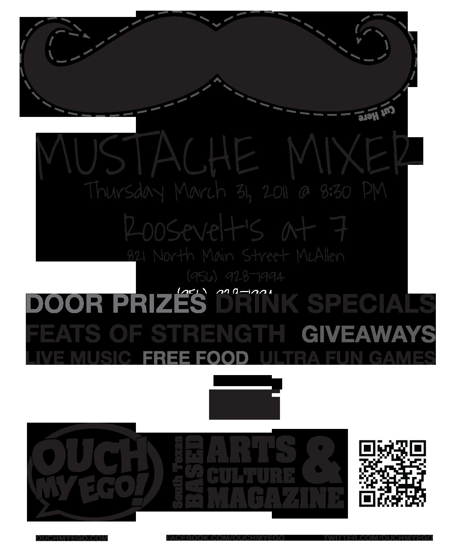 Mustache Mixer Flyer