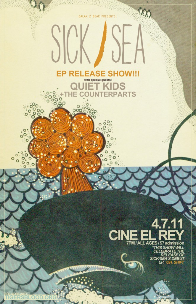 Sick/Sea @ Cine El Rey Flyer
