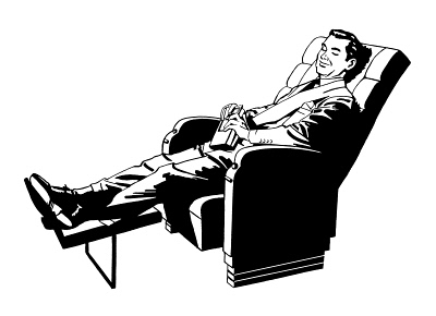 Man Relaxing in Recliner
