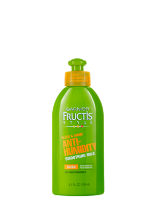 Garnier Fructis Smoothing Milk contains Moroccan argan oil, fighting humidity and frizz to tame the unruliest of hair!